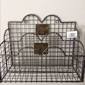 Other - New Letters In and Out Mail Caddy- Metal